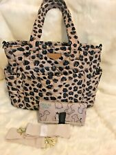 Barely Used TwelveLittle Carry Love Diaper Bag Tote Leopard Print. $140 Retailed