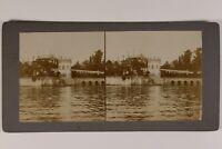 Italia Lugares A Identificar Palacio Foto Estéreo Vintage Citrato c1900