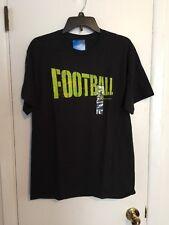 Mens-Size-Medium-T-Shirt-Dark-Gray-Football-Graphic-Short-Sleeves-Champion-NWT