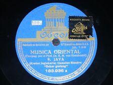 ETHNIC 78 rpm RECORD Odeon JAVA Musica Oriental GAMELAN SLENDRO / GAMELAN PELOG