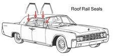 1968 1969 Lincoln Continental Roof Rail Seals
