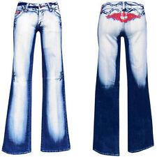 Cracy Girls blue jeans w26-gr.32 bootcut pantalones golpe señora Teens Denim nº 10