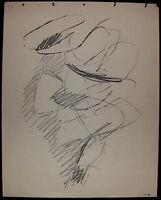 Germain Jacques pastel dessin papier signée art abstrait abstraction lyrique