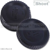 iShoot Protector Body Cover+Rear Cap for Nikon FX DX DSLR Camera&LensABS+PC