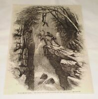 1870 magazine engraving ~ NAT OF THE IRON HAND ~ Fighting The Indian