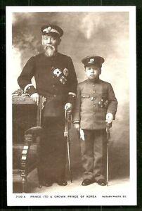 Prince Ito Crown Prince Uimin Yi Un rppc Korea ca 1909