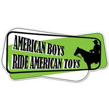 """American Boys Ride American Toys car bumper sticker decal 6"""" x 3"""""""