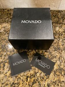 Movado Outer Watch Box Booklet Warranty Card - Empty
