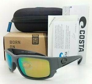 NEW Costa Fantail Sunglasses Matte Grey Green Mirror 580P AUTHENTIC TF 98 OGMP