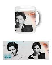 HAN ET LEIA Mug. Star Wars Inspiré. je vous aime. je sais. Princesse. Solo. Sci Fi