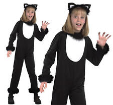 Childrens Black Cat Fancy Dress Costume Witches Pet Halloween Outfit S