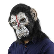 Halloween Props Bloody Monkey Mask Terror Scary Fancy Cosplay Orangutan Costume