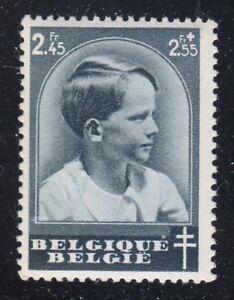 Belgium 1938 MNH Mi 442 Sc B188 Prince Baudouin Anti-Tuberculosis Society