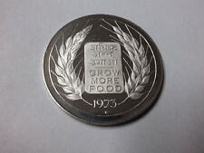 Rare 1973 India Large Silver Proof 20 Rupees FAO Grow More Food #2