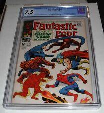 Fantastic Four # 73..CGC Universal slab 7.5  VF- grade-cf..1968 comic book