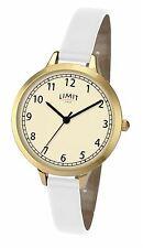 Limit Ladies Classic Watch Cream Dial Thin White Strap 6230