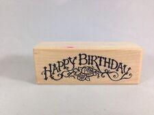 Happy Birthday Print Stamp Birthday Message Rubber Stamp PSX C-720