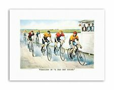 Memorabilia Cycling Bicycle Racing Vintage Sport Canvas art Prints