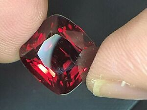 GRS CERTIFIED 10.08 Ct NATURAL BURMESE RED SPINEL CUSHION VS LOOSE GEMSTONE