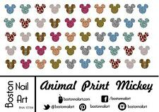 Animal Print Mickey Ears - Waterslide Nail Decal - 50 PC - BNA-10184