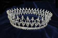 "Crystal Rhinestones With Silver Round Crown.Silver Crown.2inches Tall.6""Diameter"