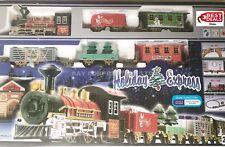 New Holiday Express Christmas Tree Train Set lumières/Motion/Sound Station BLEU!!!