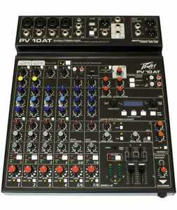 Peavey PV10AT 10 Channel Mixer with Auto-Tune and Bluetooth