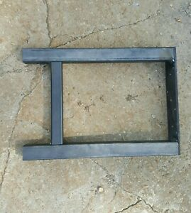 """Industrial table or bench legs.    30"""" tall x 24"""" wide.  set of 2. Tubing 2""""."""