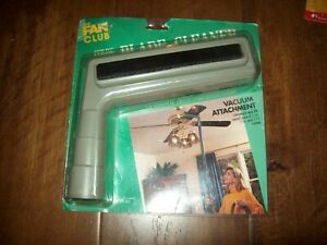 Vintage The Fan Club Universal Ceiling Fan Vacuum Attachment Blade Cleaner USA