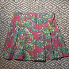 "Lilly Pulitzer sz 4  ""shell we dance"" pleated Skort Skirt"