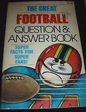 The Great Football Question & Answer Book By Michael J. Pellowski 1982 Paperback