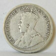 CANADA George  V: 1936 silver 10 Cents; toned F