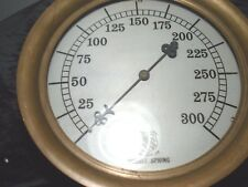 """Vintage..Very..Large..Brass...Ashcroft...Mfg..Co..Double..Spring...Gauge...14 """""""