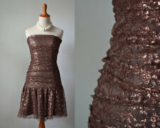 Betsey Johnson dress Betsy vintage 1980s 80s bronze party mini 0 XS extra small