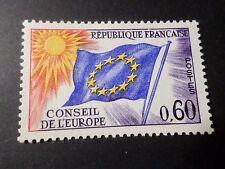 FRANCE, 1963-71, timbre SERVICE 34, CONSEIL EUROPE, DRAPEAU, neuf**, MNH FLAG
