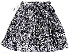 Short Skirt Animal Print Black White Rayon Stretch Waist One Size #25