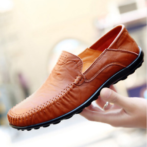 Men's Leather Shoes Loafers Masculino Moccasins Soft Leather Shoes