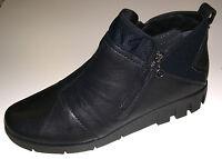 Softwaves Damen Schuhe Stiefel Stiefelette Boots 6.94.14 schwarz Leder