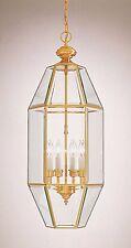 """Minka Lavery Large 26"""" Solid Brass/Glass Foyer Pendant Lamp,Entry/Landing Light!"""