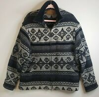 Vtg Woolrich Aztec Wool Coat Blanket Jacket Barn Coat Southwestern M Made In USA