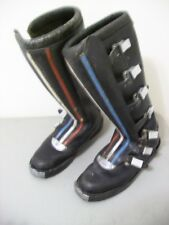 RARE VINTAGE 1970s SIDI FULL BORE RED WHITE BLUE AHMRA MOTOCROSS RACING BOOTS