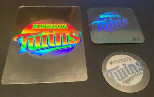 1989 1990 1991 Upper Deck Vintage 90's Logo Hologram Stickers Minnesota Twins x3