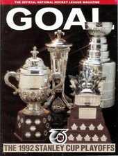 May 9, 1992 Pittsburgh Penguins vs. New York Rangers Game Program Stanley Cup