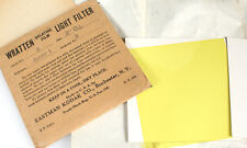 3in SQUARE WRATTEN YELLOW GELATINE LIGHT FILTER IN ORIG. PACKAGE