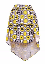 Kwanzaa Skirt Fit L XL 1XL Hi-Lo Layers Africa Wax Cotton Black Yellow NWT 65