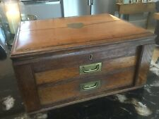 More details for vintage 3 drawer army field (?) canteen/cutlery box