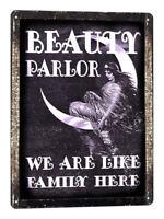 BEAUTY SHOP DECOR MANICURE METAL SIGN nail salon Hair stylist vintage style 697