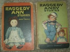 RAGGEDY ANN & RAGGEDY ANDY, by JOHNNY GRUELLE, 2 VINTAGE CHILDREN'S BOOKS, c1923