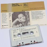 DIANA ROSS GREATEST HITS 2 CASSETTE TAPE ALBUM 70s TAMLA MOTOWN PAPER LABELS