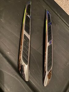 08-2012 Buick Enclave Hood Moldings Trim Driver & Passenger Side Chrome Pair